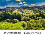 countryside panorama with... | Shutterstock . vector #1103797496