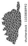corsica france island map... | Shutterstock .eps vector #1103808992