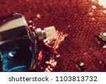 beautiful luxury perfume bottle | Shutterstock . vector #1103813732