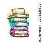 Stack Of Multi Colored Books...