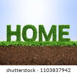 grass growing in the shape of... | Shutterstock . vector #1103837942