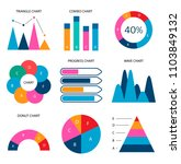 graphs flat business data... | Shutterstock .eps vector #1103849132