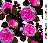seamless pattern with roses.... | Shutterstock .eps vector #1103859488