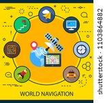 world navigation flat icons... | Shutterstock .eps vector #1103864882