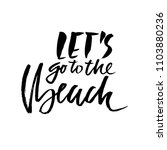 lets go to the beach. modern...   Shutterstock .eps vector #1103880236