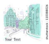 vector illustration of little... | Shutterstock .eps vector #110388026