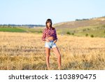 attractive brunette laughs girl ... | Shutterstock . vector #1103890475