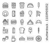 fast food pixel perfect icons ... | Shutterstock .eps vector #1103905052