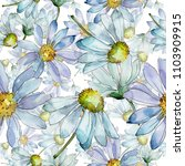 white daisy. floral botanical... | Shutterstock . vector #1103909915