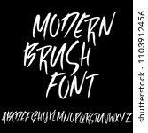 grunge distress font. modern...   Shutterstock .eps vector #1103912456