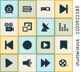 media icons set with audio... | Shutterstock .eps vector #1103922185