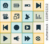 media icons set with audio... | Shutterstock . vector #1103922212
