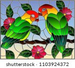 illustration in stained glass... | Shutterstock .eps vector #1103924372
