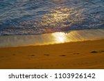 Small photo of beautiful aerian beach sunset view