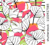 tropical  modern stripes motif. ... | Shutterstock .eps vector #1103927585