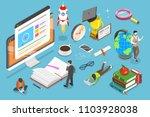 flat isometric vector concept... | Shutterstock .eps vector #1103928038