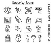 security icon set in thin line... | Shutterstock .eps vector #1103934965