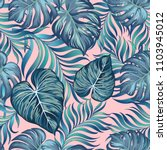 seamless tropical pattern with... | Shutterstock .eps vector #1103945012