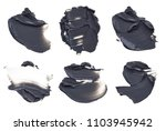 set of black smears of face mud ... | Shutterstock . vector #1103945942