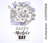 greeting card to mothers day | Shutterstock .eps vector #1103950838