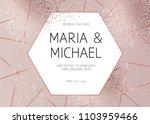 elegant pink gold glitter and... | Shutterstock .eps vector #1103959466