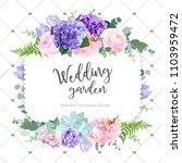 square floral vector design... | Shutterstock .eps vector #1103959472