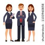 businessman with women... | Shutterstock .eps vector #1103960858