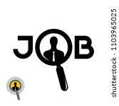 job search icon with magnifying ... | Shutterstock . vector #1103965025