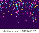 pink cyan blue yellow glowing... | Shutterstock .eps vector #1103967182