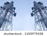 telecommunication mast tv... | Shutterstock . vector #1103975438