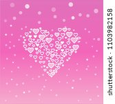 romantic white heart on a pink... | Shutterstock .eps vector #1103982158