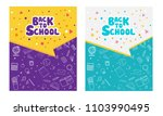 back to school information... | Shutterstock .eps vector #1103990495