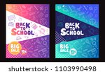 back to school information... | Shutterstock .eps vector #1103990498