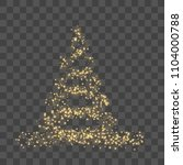christmas tree on transparent... | Shutterstock .eps vector #1104000788