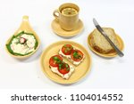 cottage cheese with vegetables  ... | Shutterstock . vector #1104014552