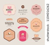 collection of vintage bakery... | Shutterstock .eps vector #1104016262