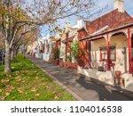 pedestrian sidewalk and... | Shutterstock . vector #1104016538