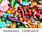 beads  colorful beads for... | Shutterstock . vector #1104016676