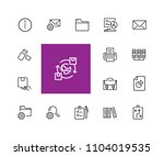 documents icons. set of  line... | Shutterstock .eps vector #1104019535