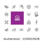 protection icons. set of line... | Shutterstock .eps vector #1104019628