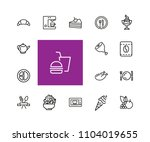 meal icons. set of line icons.... | Shutterstock .eps vector #1104019655