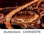 chongqing elevated road...   Shutterstock . vector #1104020378