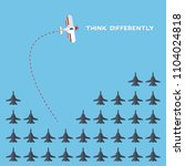 think differently   being...   Shutterstock .eps vector #1104024818
