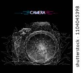 abstract vector image of camera ... | Shutterstock .eps vector #1104045398