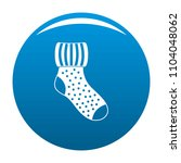 woolen sock icon. simple... | Shutterstock . vector #1104048062