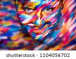 portrait of the bright... | Shutterstock . vector #1104056702