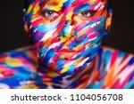 portrait of the bright... | Shutterstock . vector #1104056708