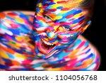 portrait of the bright... | Shutterstock . vector #1104056768