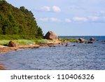 The Baltic Sea coast line - stock photo