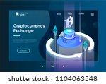 cryptocurrency exchange concept.... | Shutterstock .eps vector #1104063548